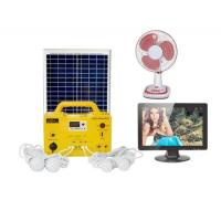 China 17Ah battery solar energy panel Home Solar Generator DC Fan DC TV  LED Bulbs FM radio MP3 Player on sale