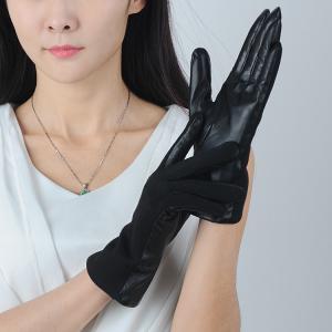Quality ladies / women's autumn color woolen gloves wholesale