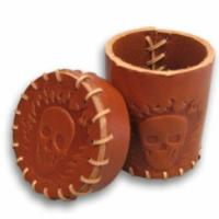 Quality PVC + PP  Entertainment Holder Customized Logo Leather Dice Cup wholesale