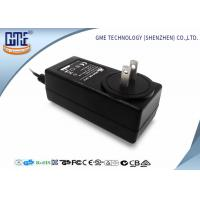 Quality Black 2 Flat Prong 36W AC DC Power Adapter With 1.5m Cable , 87.4% Efficiency wholesale