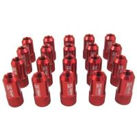 Quality Red 40mm Aluminum Racing Wheel Lug Nuts With Key / Lock For Honda wholesale
