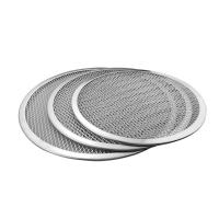 Quality Seamless Rim Aluminium Pizza Pan , Round Pizza Trays Cookware Bakeware 1mm Thickness wholesale