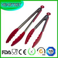 Quality Kitchen and Barbecue Grill Tongs Silicone BBQ Cooking Stainless Steel Locking Food Tong wholesale