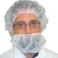 Quality Food Industry Beard Covers Disposable , Large Beard Nets With Elastic Earloop wholesale