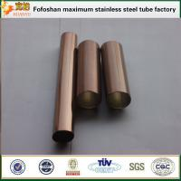 Quality Bronze color finish pipe stainless steel SS304 exporter wholesale