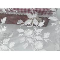 Quality Tulle Tape Embroidery Mesh Lace Fabric 3d Flower With SGS Certificate wholesale