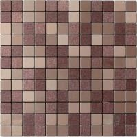 Quality Light Purple Beige Solid Face Metallic Mosaic Tiles Self Adhesive wholesale
