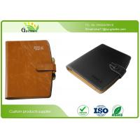 Quality Embossing Surface Finishing Loose Leaf Notebook With Pen And Business Card Pockets wholesale
