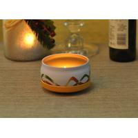 Quality Large Colored Tin Candle Holders Box Personalised For Home Fragrance wholesale