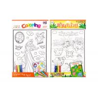 Quality 3D Embossing Activity Coloring Sticker Kids Sticker Printing For Children wholesale