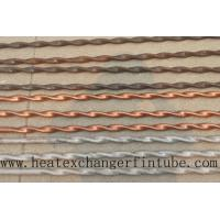 Quality Twisted Stainless Steel , Finned Copper Tube With Higher Heat Transfer Coefficient wholesale
