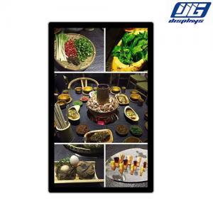 China 43 Inch Restaurant Digital Menu Boards / Fast Food Digital Signage Display on sale
