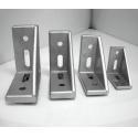 Metal Right Angle T Slot Aluminum Plastic Cap 30x60 T Slot Corner Bracket for sale