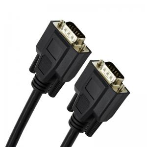 China Various Lengths HD Male To Male VGA Monitor Cable , VGA Patch Cable on sale