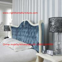 Cheap Neoclassical design Luxury Furniture Fabric Upholstery headboard King Bed with for sale