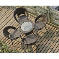Quality rattan set tempered glass square table outdoor furniture wholesale