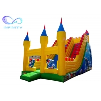 China Kids 0.55mm Commercial Outdoor Inflatable Slide With Bouncer on sale
