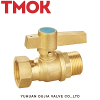 China dn15 for multilayer pipe certificated brass color good sales butterfly handle internal thread active brass ball vavle on sale