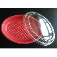 Buy cheap PP Plastic Takeaway Trays , Four Compartment Food Trays With Lids For Keep Food Clean product