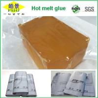 Quality EVA Brown Transparent Industrial Hot Glue , Anti Yellowing Hot Melt Glue wholesale