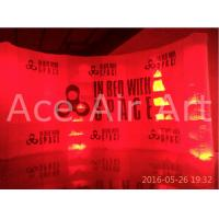 Cheap custom free standing inflatable curve wall with logo for advertising and for sale