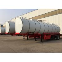 Quality 34CBM 3 Axle Hot Bitumen Tank Trailer Carbon Steel Tank Material High Loading wholesale