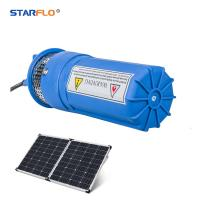 Buy cheap Plastic 12 Volt Submersible Water Pump , Solar Powered Dc Water Pump Iron from wholesalers