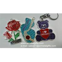 Glass enamelled rose metal charms