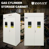 Quality Detecor Equipped Gas Bottle Storage Cabinet Cold Rolled Steel For 3 Cylinders wholesale
