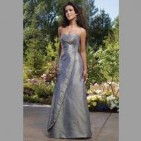 Cheap Bridesmaid Dress/Nice Floor Length A-line Gown with Strapless Sweetheart for sale