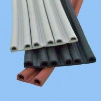 China EPDM Sponge Window Seals with Adhesive Tape, Available in C/D/E/I/P/V Types, with 3M Acrylic Tape on sale