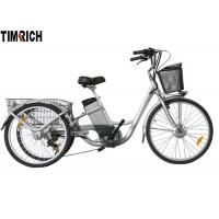 Quality TM-BGL-ET02 Three Wheel Electric Bike , Rechargeable Electric Bicycle With Lithium Battery wholesale