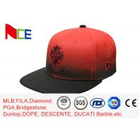 China Red Tone Embroidery Cool Vintage Snapback Hats , Snapback Fitted Hats Durable on sale