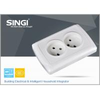 Quality Europe standard 16A 250V two gang electric wall socket used in the living room wholesale