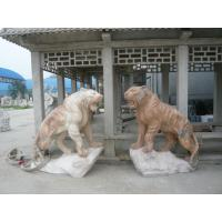 Quality Pink marble lions sculpture with base wholesale