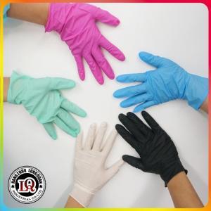 China Nitrile powder free medical gloves on sale
