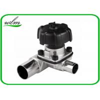 Quality Manual / Pneumatic Sanitary 3 Way Diaphragm Valve , T Type Tri Clamp Valve wholesale