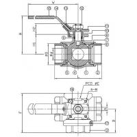 Ball Valves, Screwed End Ball Valve, 3 Way Screwed End Ball Valve 2057n p2