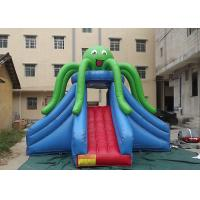 Quality Green Octopus Giant Inflatable Slide Popular Attraction Reinforced Strips At Joint wholesale