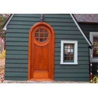 China Exterior Solid Wood Doors , Double Open Grill Main Solid Wood Front Entry Doors on sale