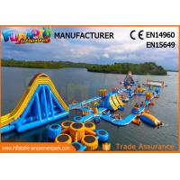 Quality High Durability Floating Inflatable Water Park Blue And Yellow Color wholesale