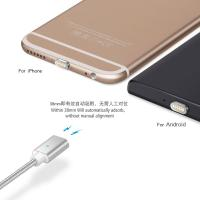 Quality fast speed 100cm length 8 pin magnetic lightning charging adapter cable for Apple iPhone iPad wholesale
