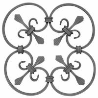 Quality Wrought Iron Elements/ Ornaments/parts  for balusters and gates decorative --Groupware or wrought iron flowers wholesale