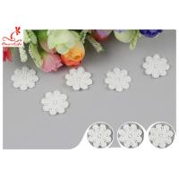 Quality Original Cotton Small Flower Lace Collar Applique With DTM Dyeing wholesale
