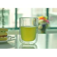Quality Plain Double Wall Borosilicate Glass Tea Cup Hand Blown Microwave Safe wholesale