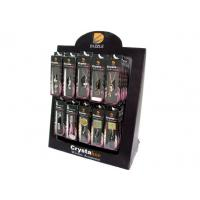 Durable Corrugated Advertising Display Stands , Cardboard Counter Display With Hooks