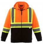 Quality Hi Vis Fleece Reflective Safety Hoody Jacket wholesale