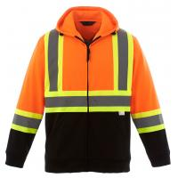 Cheap Hi Vis Fleece Reflective Safety Hoody Jacket for sale