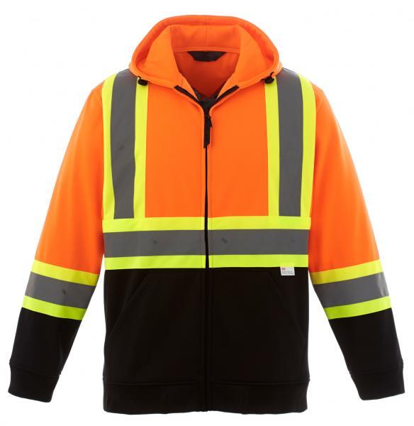 Cheap Hi Vis Fleece Reflective Safety Hoody Jacket for sale