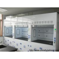 Quality Customized Laboratory Fume Hood Anti Corrosion PP Blower Adjust Door Glass wholesale